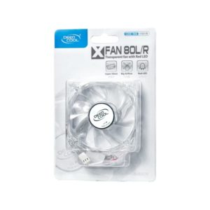 Cooler for PSU, CASE DEEPCOOL XFAN80L, R LED 80x80x25 mm