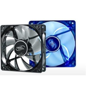 Cooler for PSU, CASE DEEPCOOL XFAN80U GREEN, BLUE LED 80x80x25 mm