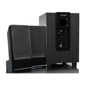 Microlab Subwoofer M-100U 2.1 USB SD CARD READER BLACK 10W(5W+2.5W*2)