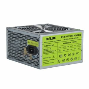 Power Unit DELUX DLP-25D 300W(360A)20+4PIN,2*SATA,3*big 4pin,1*small 4pin,1*12CM fan,Without ON, OFF