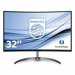 "PHILIPS 31.5"" 328E8QJAB5 CURVED VA WIDE 1920x1080 20000000 - 1 5ms DP HDMI VGA Speakers 2x3Watt (12"