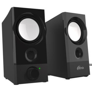 Колонки RITMIX SP-2072 Black (2.0, 5W, 2x 2,5W, 90-20000Hz, USB)